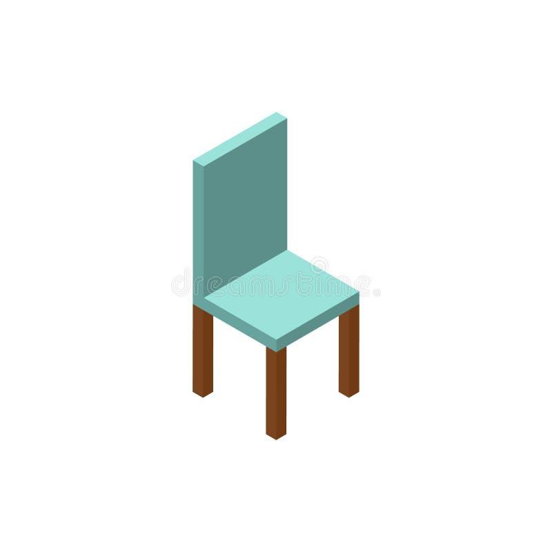 Icono o logotipo isométrico de la silla para el diseño web ilustración del vector