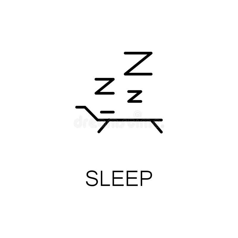 Icono o logotipo plano del sueño para el diseño web stock de ilustración