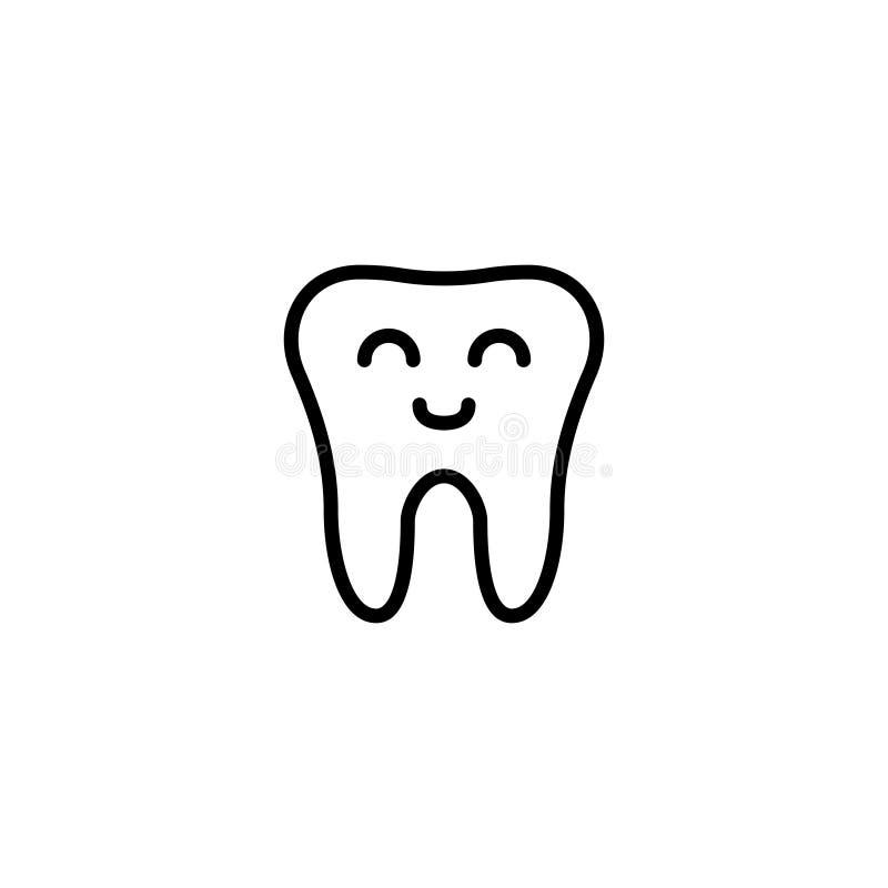 Icono o logotipo superior del diente en la línea estilo stock de ilustración