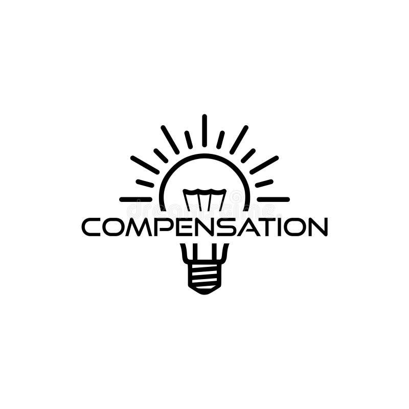 Icono o muestra de la remuneración stock de ilustración