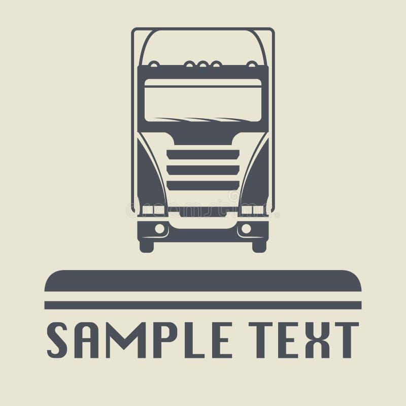 Icono o muestra del camión libre illustration