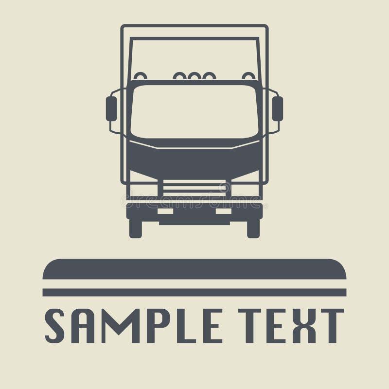 Icono o muestra del camión ilustración del vector