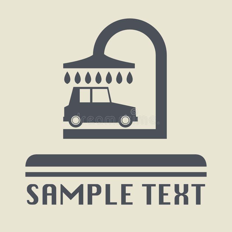 Icono o muestra del túnel de lavado stock de ilustración
