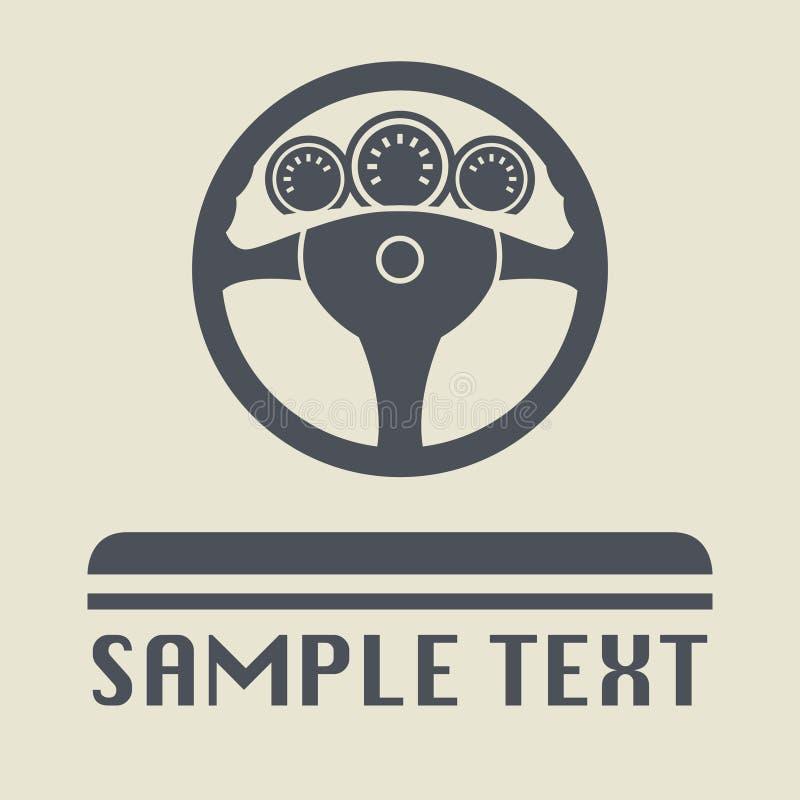 Icono o muestra del volante ilustración del vector
