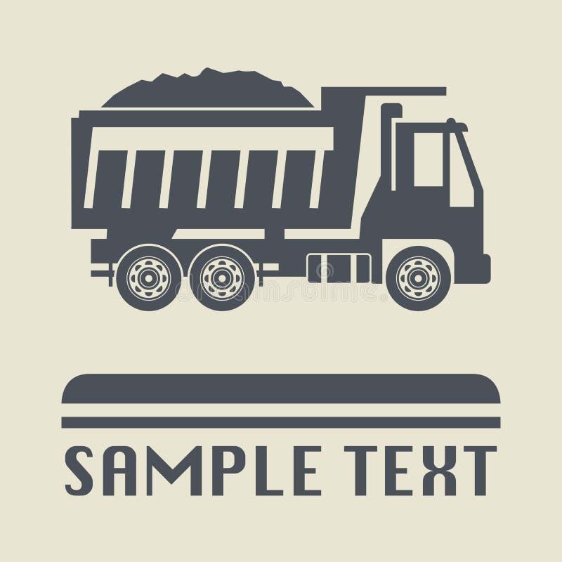 Icono o muestra, ejemplo del camión del vector stock de ilustración