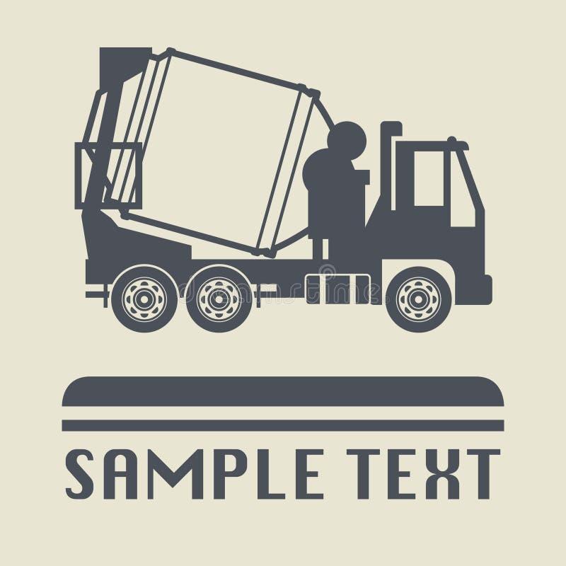 Icono o muestra, ejemplo del camión del vector libre illustration