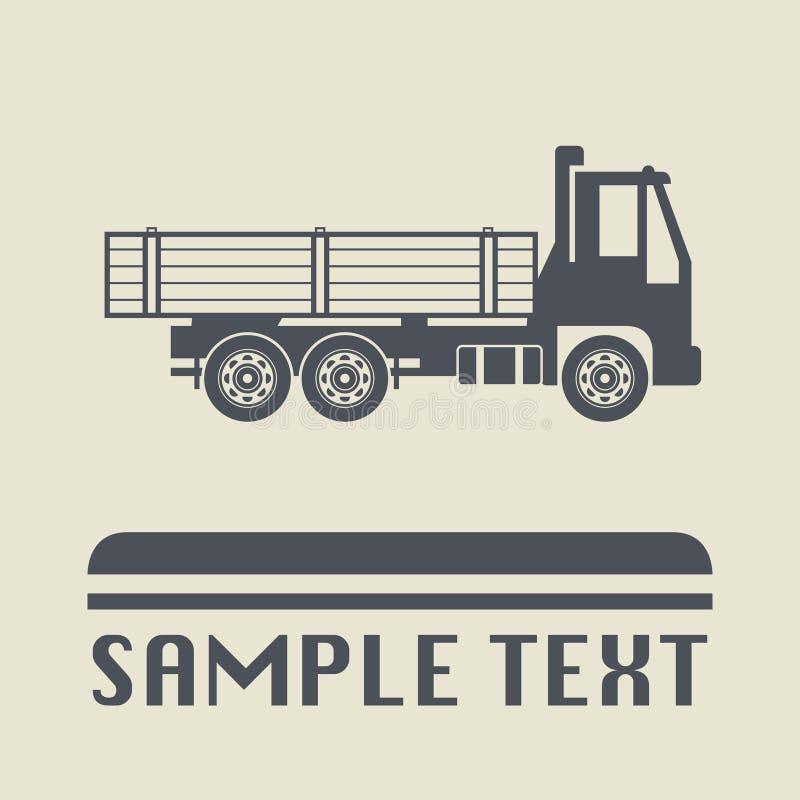 Icono o muestra, ejemplo del camión del vector ilustración del vector