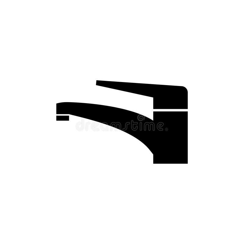 Icono o muestra simple, símbolo del grifo del agua ilustración del vector