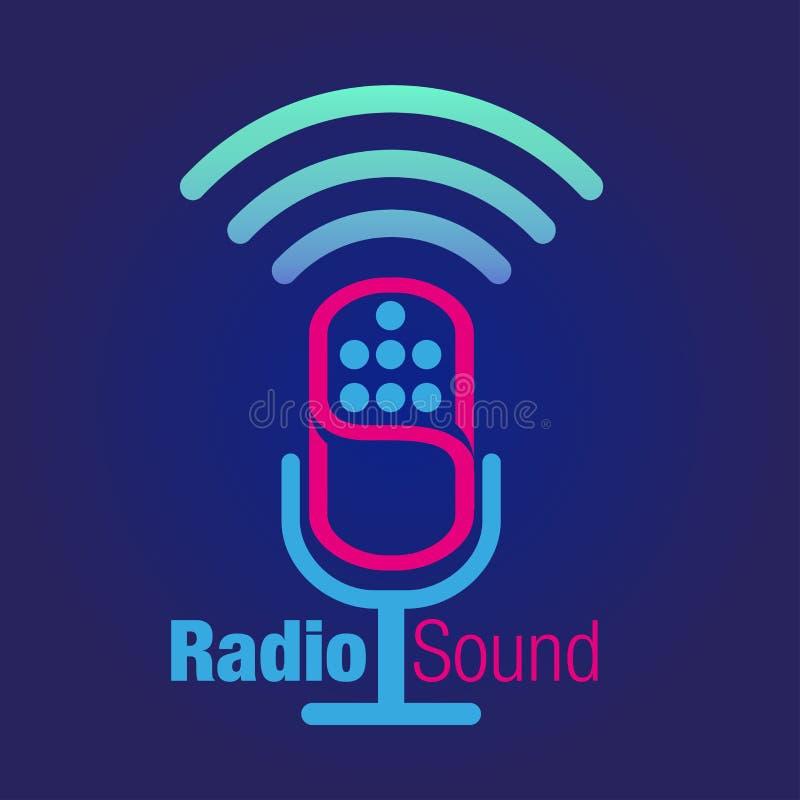 Icono o símbolo de radio de los sonidos ilustración del vector