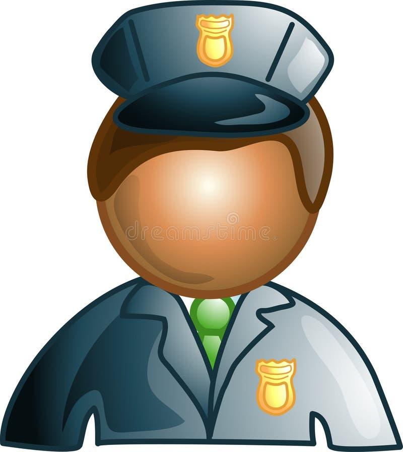 Icono o símbolo del protector de seguridad stock de ilustración