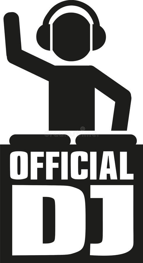 Icono oficial de DJ libre illustration