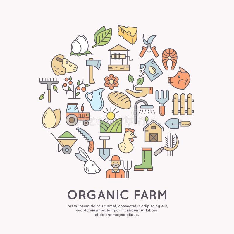 Icono orgánico de la granja libre illustration