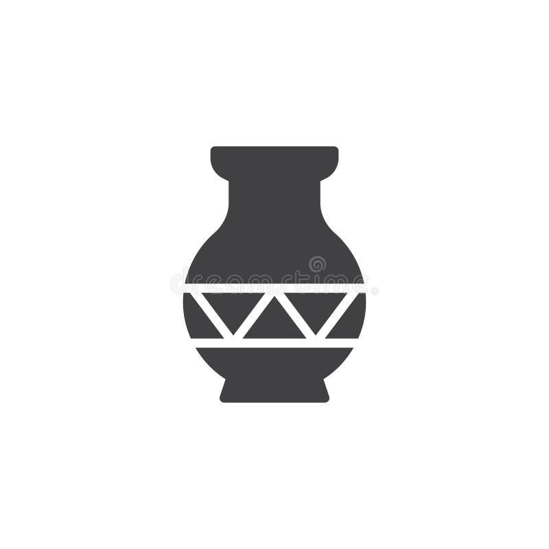 Icono ornamental del vector del florero libre illustration