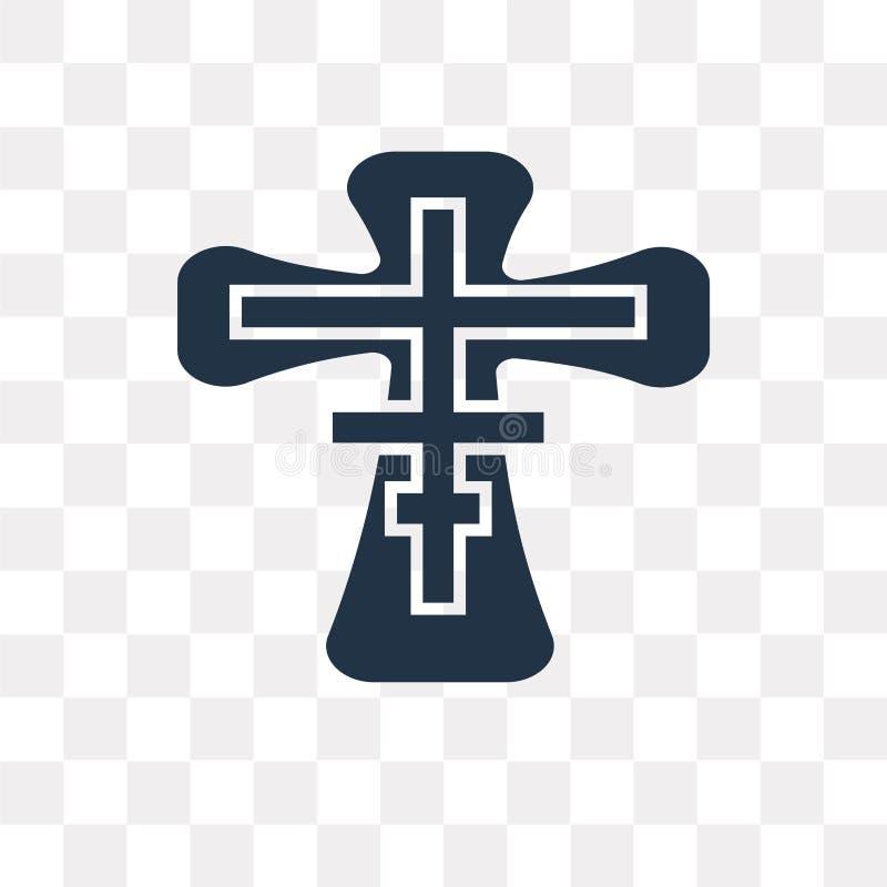 Icono ortodoxo del vector aislado en el fondo transparente, Orthodo stock de ilustración