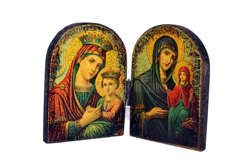Icono ortodoxo griego foto de archivo