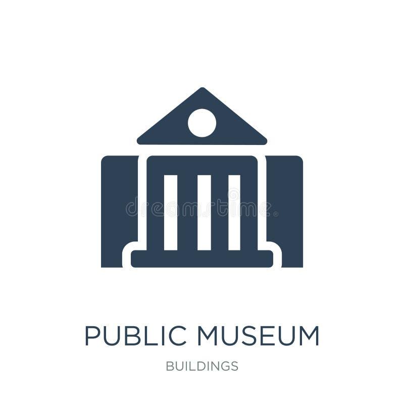icono público del museo en estilo de moda del diseño Icono público del museo aislado en el fondo blanco icono público del vector  stock de ilustración
