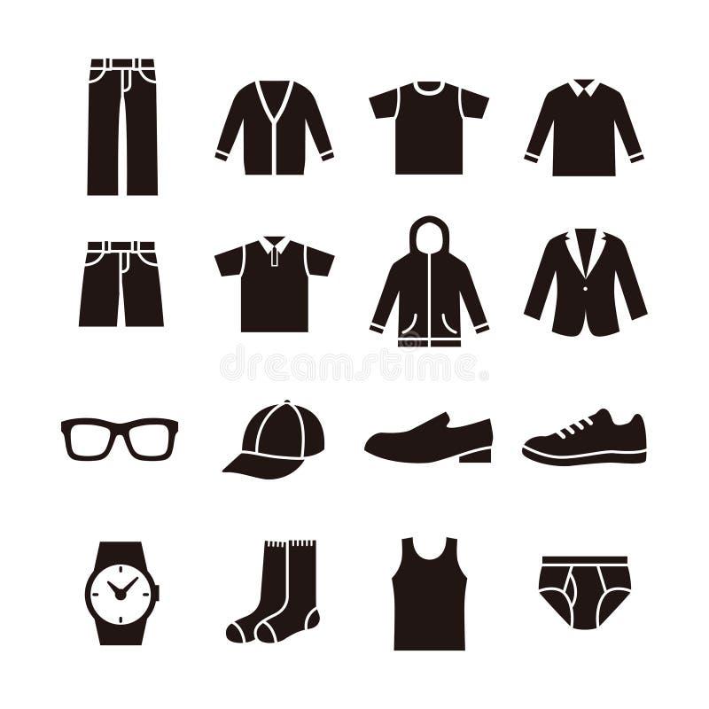 Icono para hombre de la moda ilustración del vector
