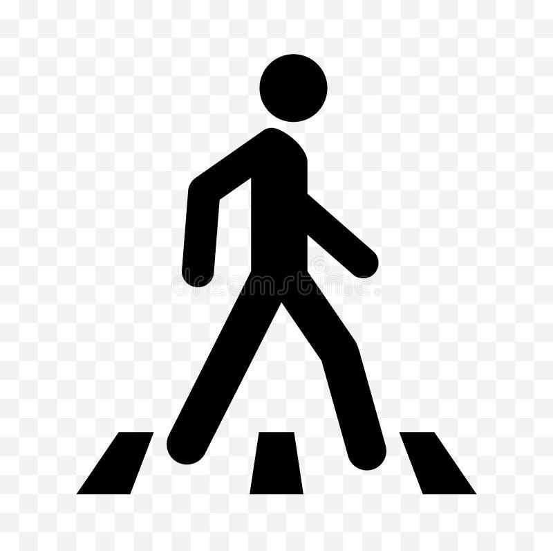 Icono peatonal stock de ilustración
