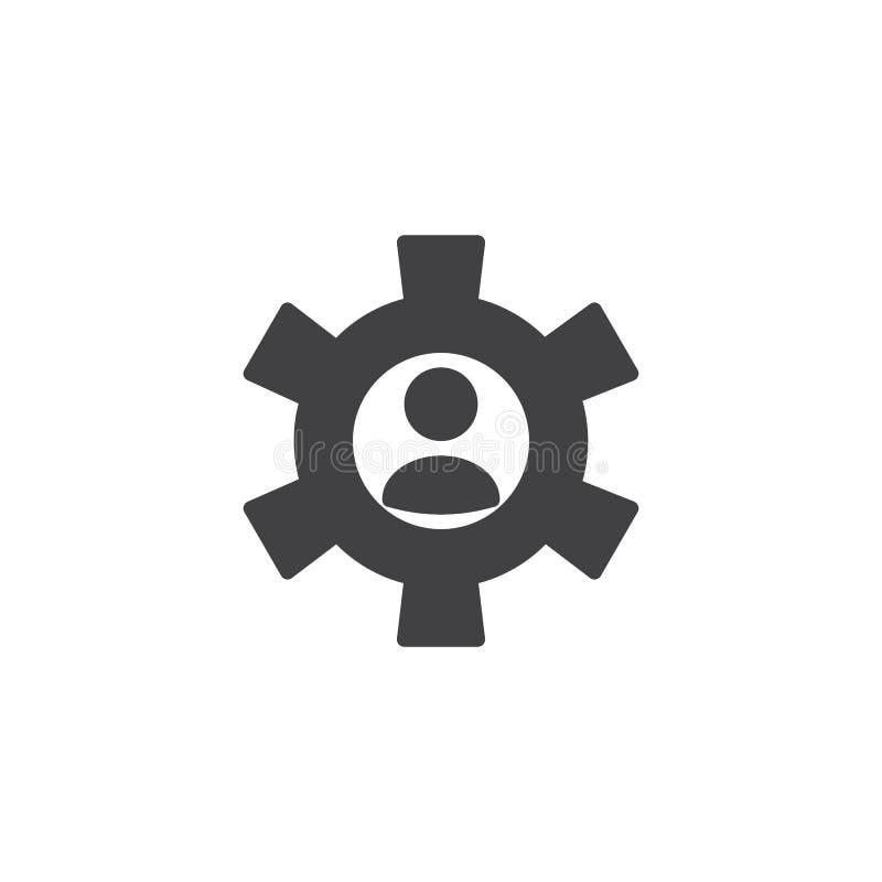 Icono personal del vector del ajuste stock de ilustración