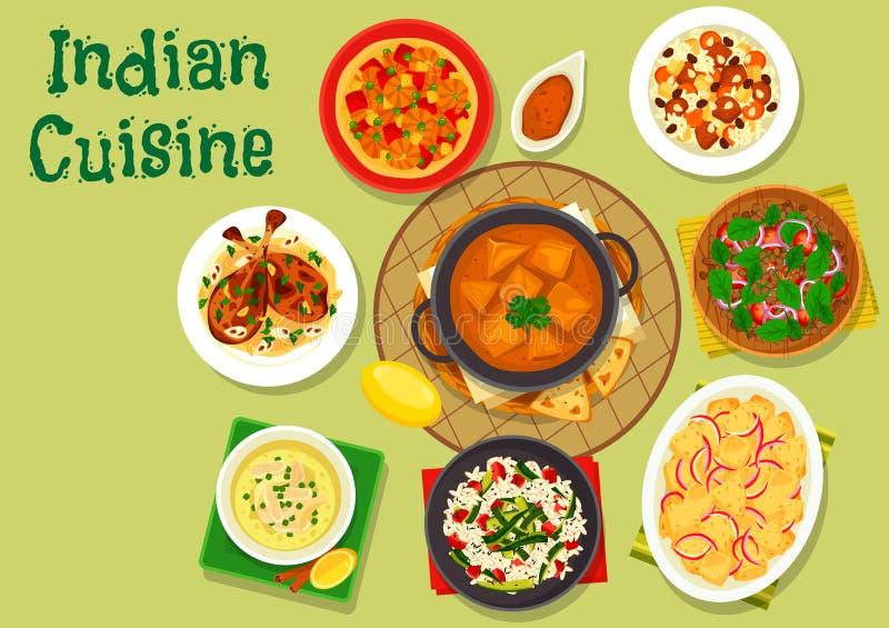 Icono Picante De La Cena De La Cocina India Para El Diseño Del Menú ...