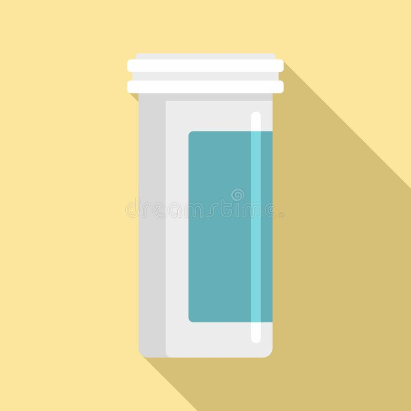 Icono plástico antibiótico del tarro, estilo plano libre illustration