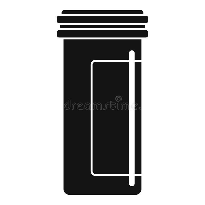 Icono plástico antibiótico del tarro, estilo simple libre illustration