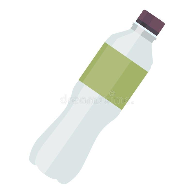 Icono plástico del agua de botella para la aptitud en estilo plano aislado en el fondo blanco Ilustración del vector ilustración del vector