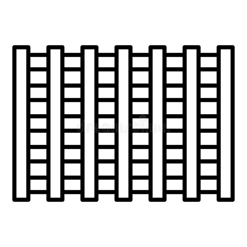 Icono plástico del marco de la piscina, estilo del esquema libre illustration