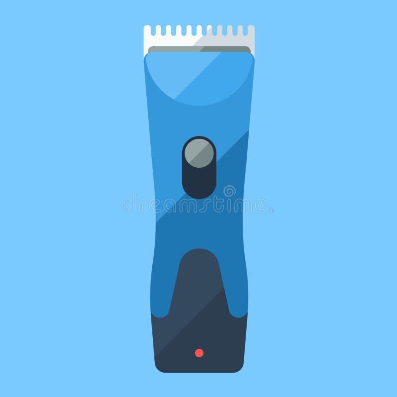 Icono plano azul del condensador de ajuste para el afeitado casero o la barbería libre illustration
