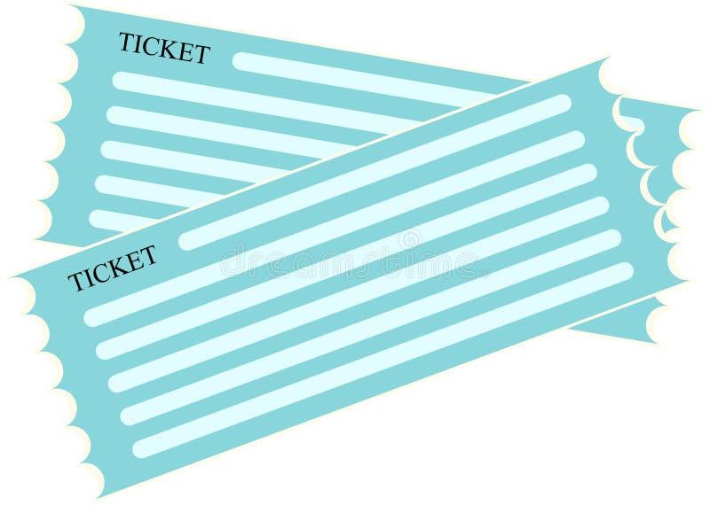 Icono plano azul del vector para el boleto ilustración del vector