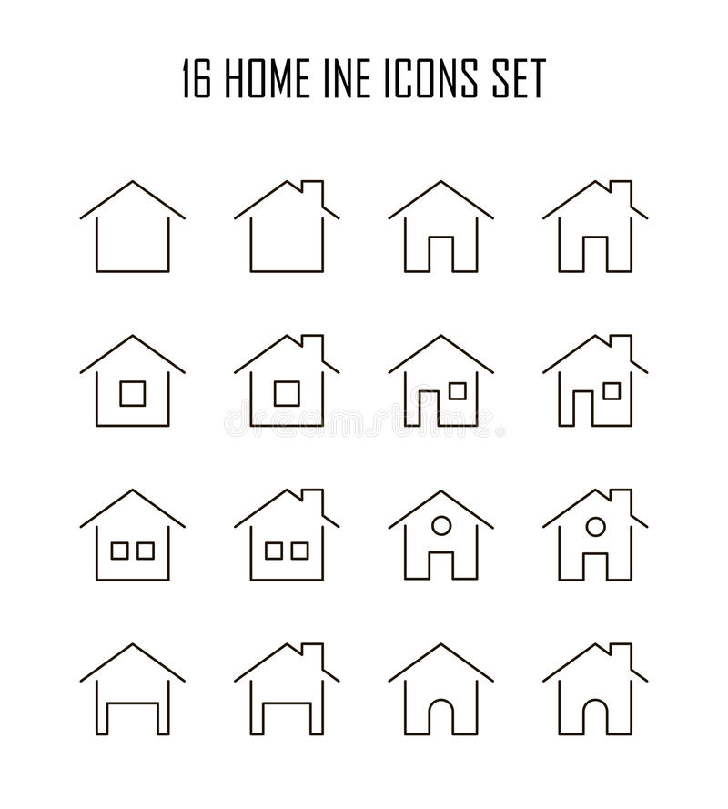 Icono plano casero libre illustration