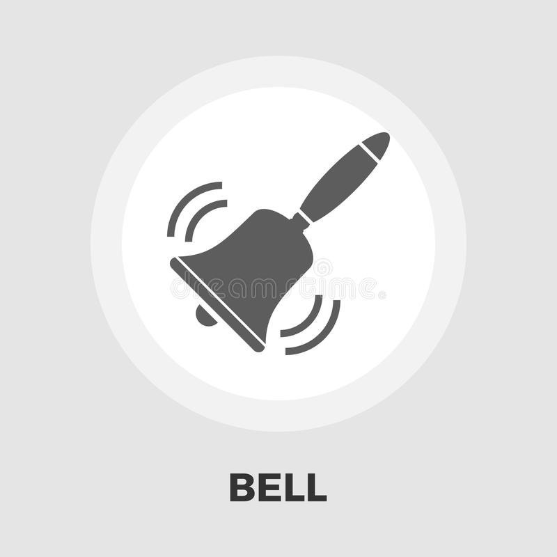 Icono plano de Bell libre illustration