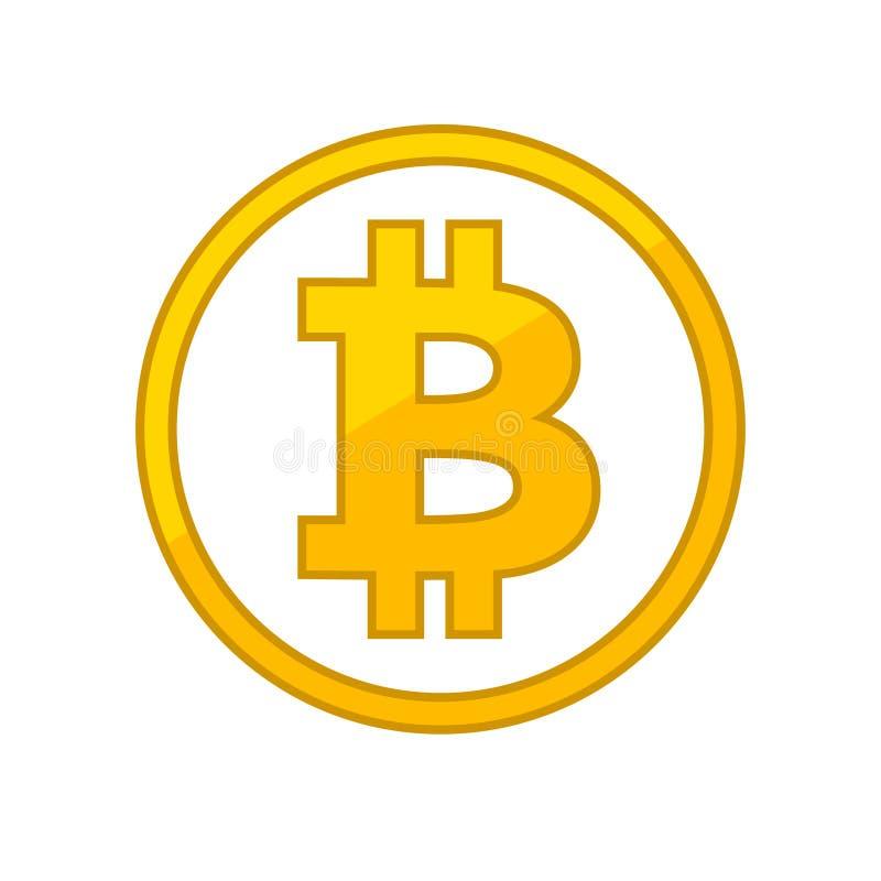Icono plano de Bitcoin para el dinero de Internet libre illustration