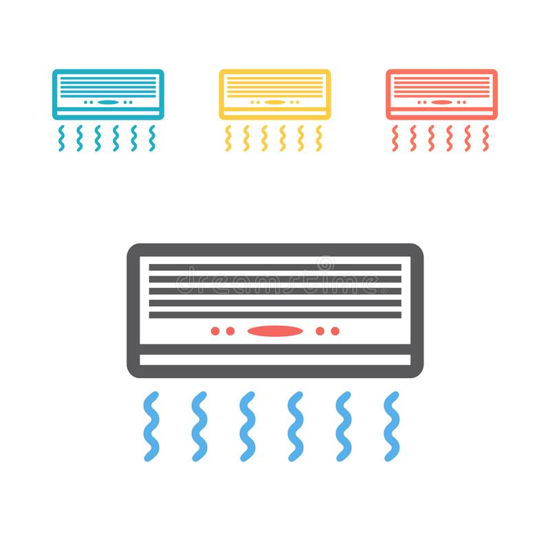 Icono plano de condicionamiento Muestras del vector para los gráficos del web stock de ilustración