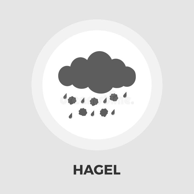 Icono plano de Hagel ilustración del vector