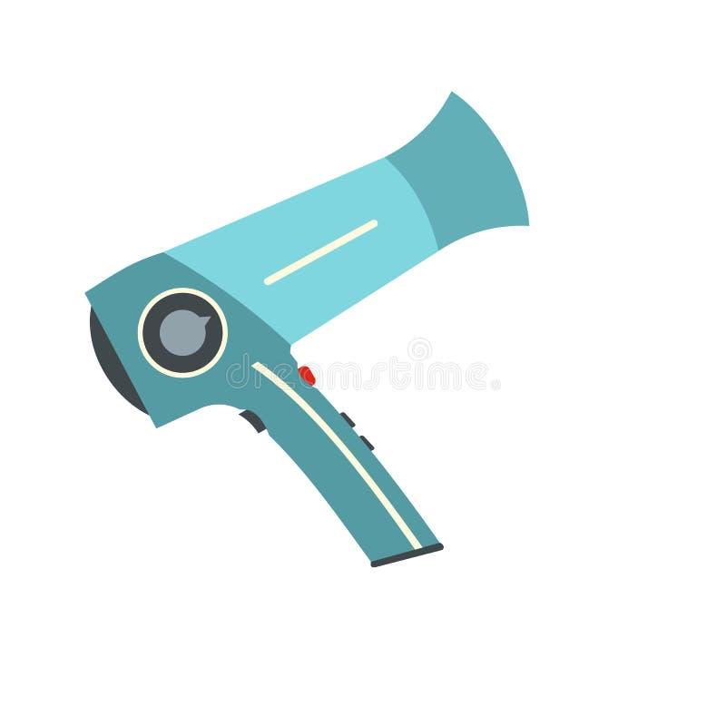 Icono plano de Hairdryer ilustración del vector