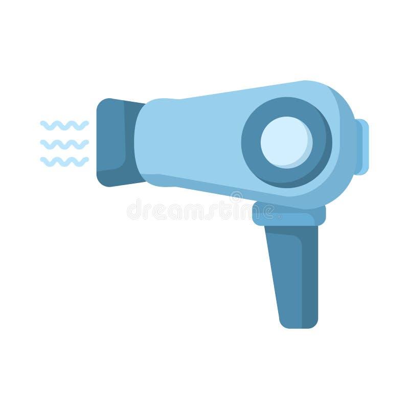 Icono plano de Hairdryer E libre illustration