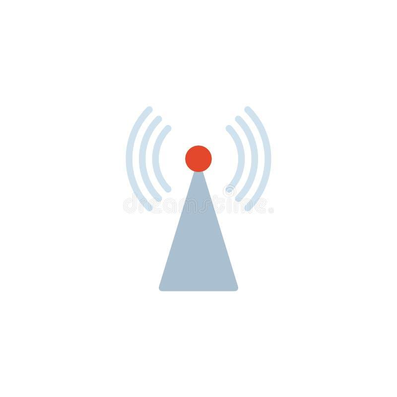 Icono plano de la antena inalámbrica de Internet libre illustration