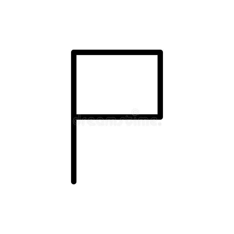 Icono plano de la bandera ilustración del vector