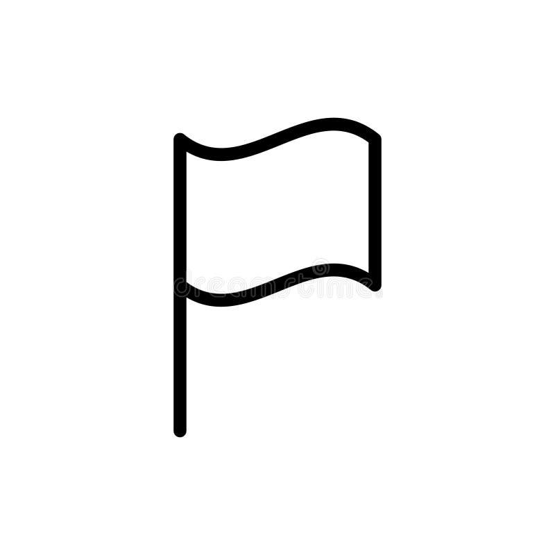 Icono plano de la bandera stock de ilustración