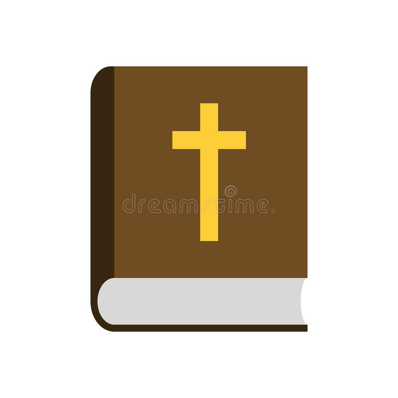 Icono plano de la biblia ilustración del vector