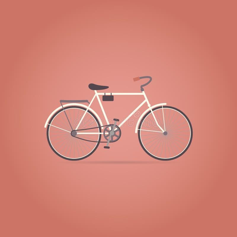 Icono plano de la bicicleta Estilo retro ilustración del vector