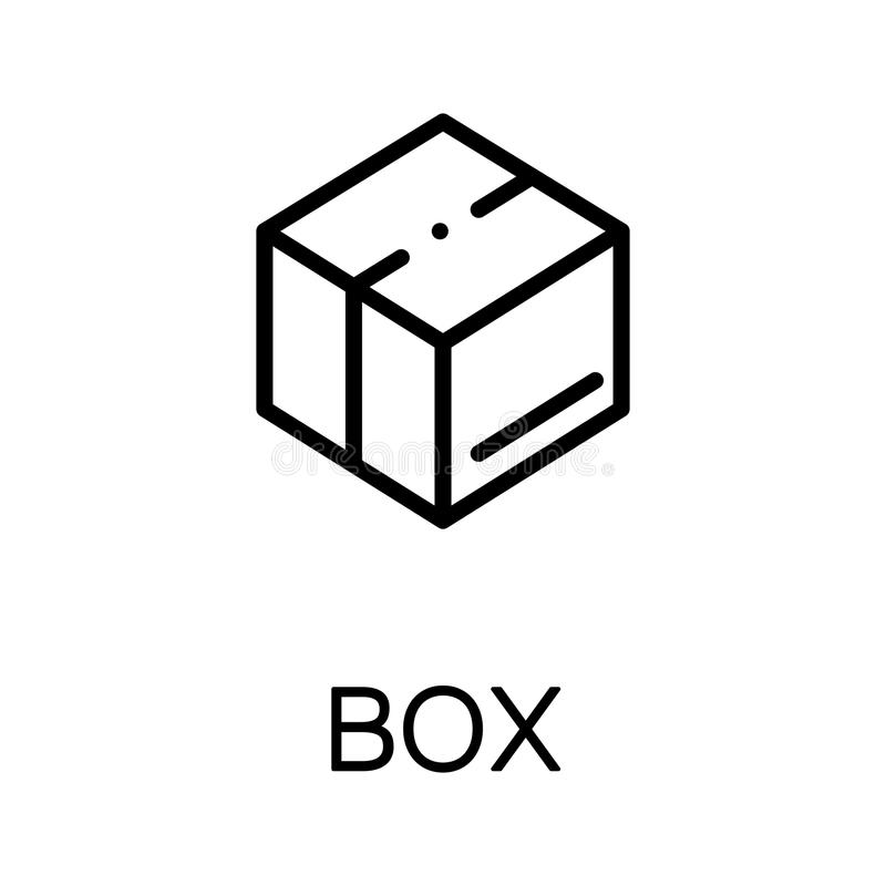 Icono plano de la caja libre illustration