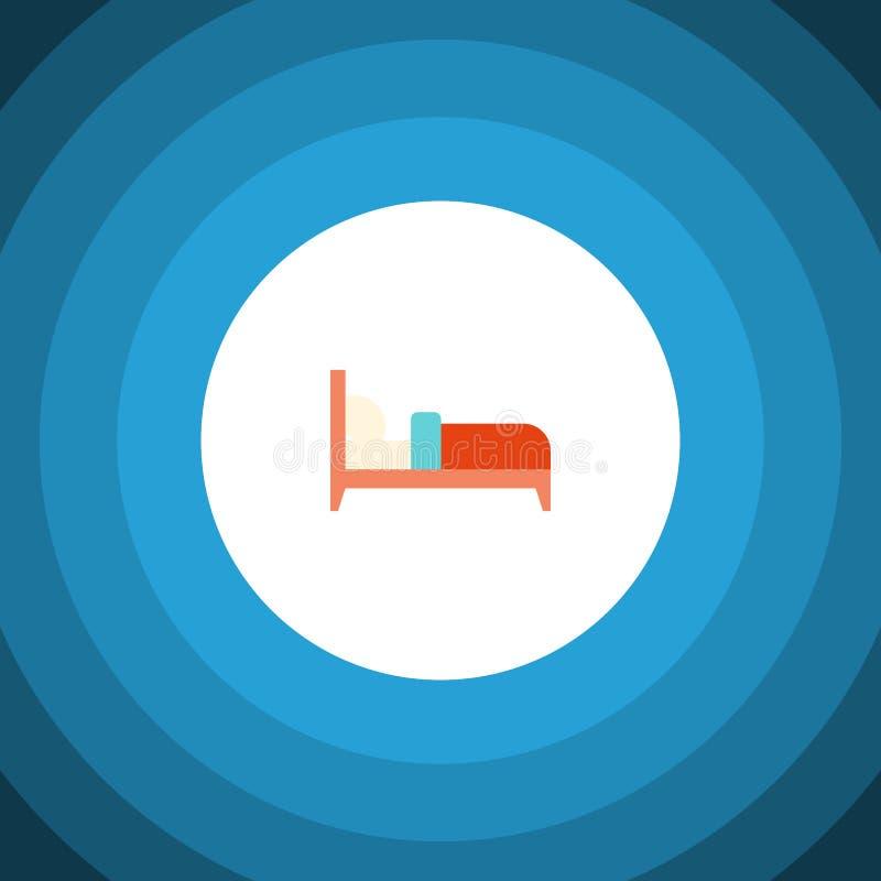Icono plano de la cama El elemento del vector de los transportes se puede utilizar para el colchón, cama, concepto de diseño de l stock de ilustración
