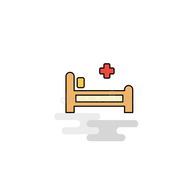 Icono plano de la cama de hospital Vector libre illustration
