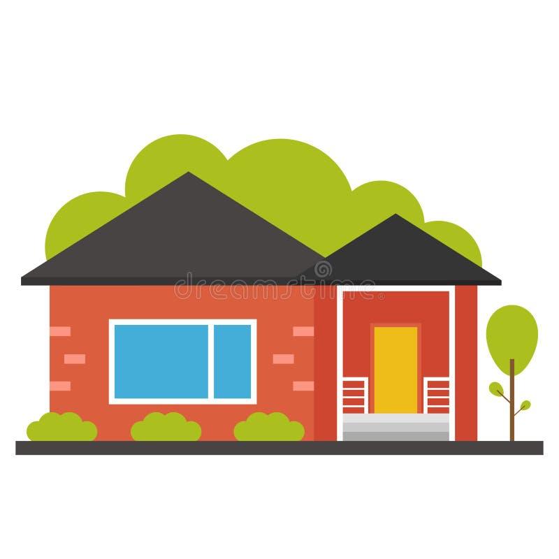 Icono plano de la casa foto de archivo libre de regalías
