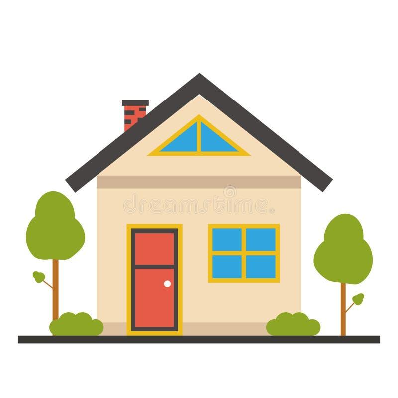 Icono plano de la casa fotografía de archivo libre de regalías