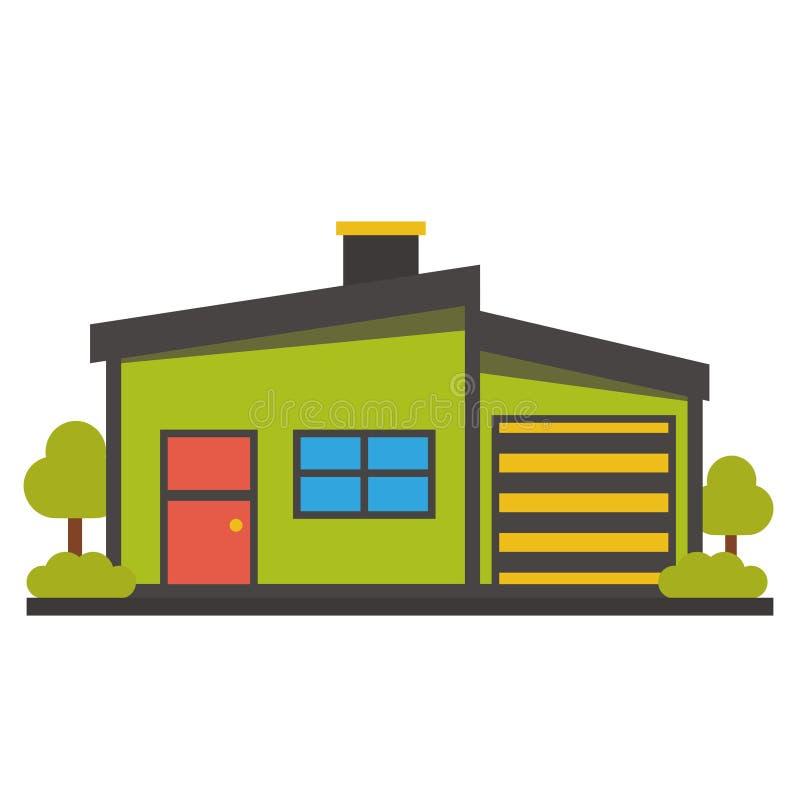 Icono plano de la casa imagenes de archivo