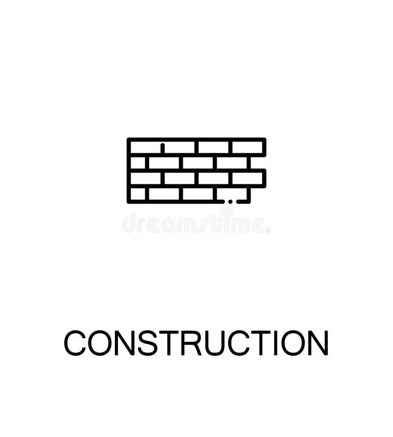 Icono plano de la construcción stock de ilustración