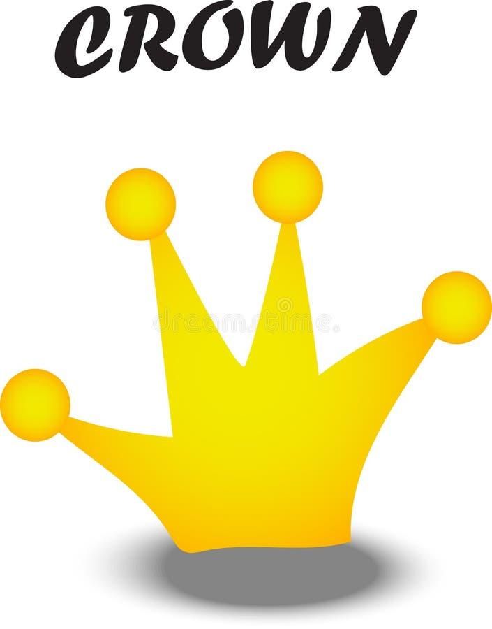 Icono plano de la corona ilustración del vector